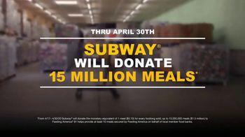 Feeding America TV Spot, 'Subway Meal Donations' - Thumbnail 8