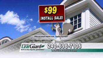 LeafGuard of DC $99 Install Sale TV Spot, 'Time's Running Out' - Thumbnail 3
