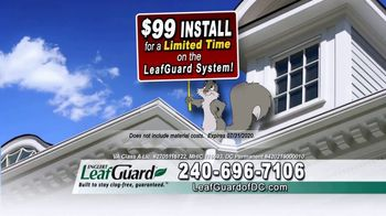 LeafGuard of DC $99 Install Sale TV Spot, 'Time's Running Out' - Thumbnail 4