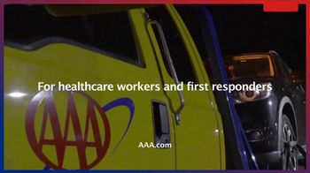 AAA Roadside Assistance TV Spot, 'Free for All Healthcare Workers and First Responders' - Thumbnail 9
