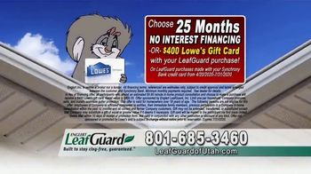 LeafGuard of Utah $99 Install Sale TV Spot, 'Damage' - Thumbnail 2