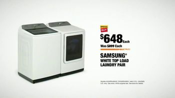The Home Depot TV Spot, 'Appliance Help: White Samsung Laundry Pair' - Thumbnail 8