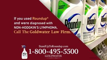 Goldwater Law Firm TV Spot, 'Roundup Linked to Non-Hodgkin's Lymphoma: $8 Billion' - Thumbnail 4