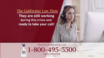 Goldwater Law Firm TV Spot, 'Roundup Linked to Non-Hodgkin's Lymphoma: $8 Billion' - Thumbnail 6