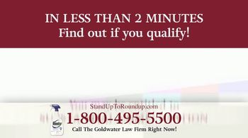 Goldwater Law Firm TV Spot, 'Roundup Linked to Non-Hodgkin's Lymphoma: $8 Billion' - Thumbnail 8