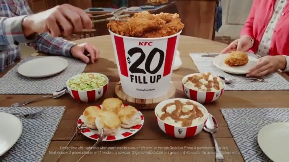 KFC $20 Fill Up TV Commercial, 'Home-Style Cookin' Without the Cookin''