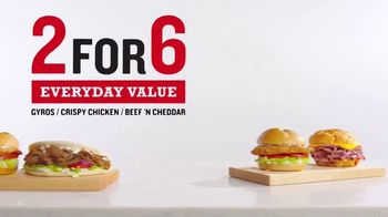 Arby's 2 for $6 Everyday Value Menu TV Spot, 'Two Happinesses: Gyros' Song by YOGI - Thumbnail 2