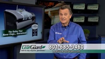 LeafGuard of Utah $99 Install Sale TV Spot, 'Fascia Board' - 3 commercial airings