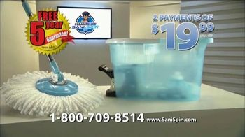 Clean Police Sani-Spin TV Spot, 'The Next Generation Mop'