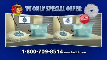 Clean Police Sani-Spin TV Spot, 'The Next Generation Mop' - Thumbnail 9
