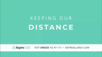 Aspire Allergy & Sinus TV Spot, 'Allergies Don't Social Distance' - Thumbnail 1