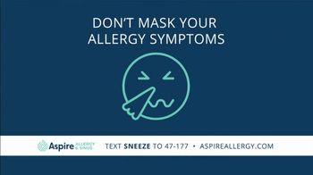 Aspire Allergy & Sinus TV Spot, 'Allergies Don't Social Distance'