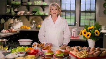 Postmates TV Spot, 'How to Make a Burger: Free Delivery' Featuring Martha Stewart