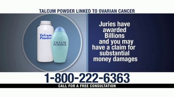 Ventura Law Center TV Spot, 'Talcum Powder Lawsuit' - Thumbnail 6