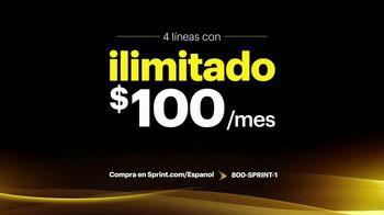 Sprint TV Spot, 'Cuatro líneas: $100 dólares y Galaxy' [Spanish] - Thumbnail 4