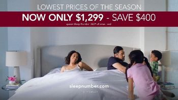 Sleep Number Lowest Prices of the Season TV Spot, 'Adjustable Settings: Save $400' - Thumbnail 9