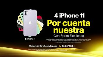 Sprint Unlimited TV Spot, 'Cuatro Apple iPhone 11' [Spanish] - Thumbnail 5
