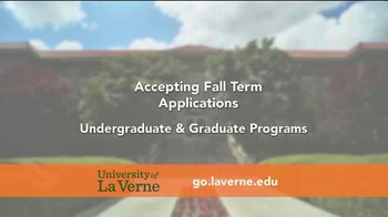 University of La Verne TV Spot, 'Now Accepting Applications for Fall Term' - Thumbnail 2