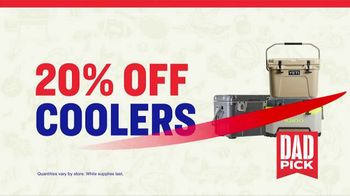 Academy Sports + Outdoors 4 Day Sale Event TV Spot, 'Dad Picks: Athletic Wear, Golf Balls & Coolers' - Thumbnail 7