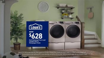 Lowe's TV Spot, 'Calling it Quits: Samsung Laundry Pair' - Thumbnail 5