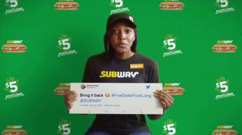 Subway TV Spot, 'Charlie Puth Responds to $5 Footlong Tweet from Matthew' - 4561 commercial airings