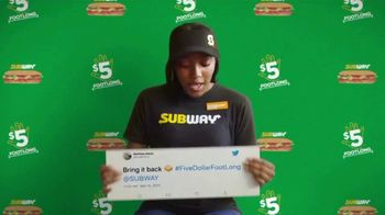 Subway TV Spot, 'Charlie Puth Responds to $5 Footlong Tweet from Matthew' - Thumbnail 1