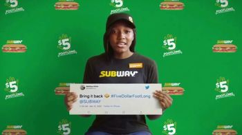 Subway TV Spot, 'Charlie Puth Responds to $5 Footlong Tweet from Matthew' - Thumbnail 3