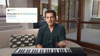 Subway TV Spot, 'Charlie Puth Responds to $5 Footlong Tweet from Matthew' - Thumbnail 4