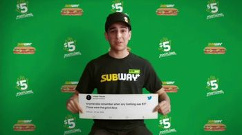 Subway TV Spot, 'Charlie Puth Responds to $5 Footlong Tweet From Tristan' - Thumbnail 2