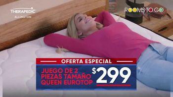 Rooms to Go Mes del Colchón TV Spot, 'Queen Eurotop: $299 dólares' [Spanish] - Thumbnail 3