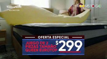 Rooms to Go Mes del Colchón TV Spot, 'Queen Eurotop: $299 dólares' [Spanish] - Thumbnail 4