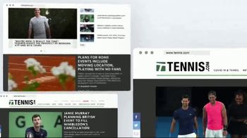 TENNIS.com TV Spot, 'Stay Connected & Baseline' - Thumbnail 4