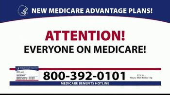 Medicare Benefits Helpline TV Spot, '2020 Medicare Advantage Plans: $0 Co-Pays' - Thumbnail 1