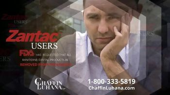 Chaffin Luhana TV Spot, 'Zantac Users: Removed From Markets' - Thumbnail 1