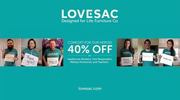 Lovesac TV Spot, 'A Lifetime of Comfort: Save 40 Percent Off' Song by Forever Friends - Thumbnail 9