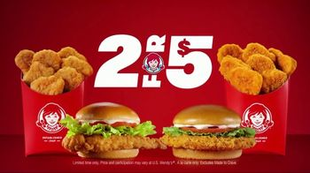 Wendy\'s 2 for $5 TV Spot, \'All the Chicken You Crave\'