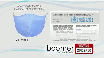 Boomer Naturals Multi-Use Protective Face Masks TV Spot, 'Ideal Face Cover: Makes a Difference' - Thumbnail 4