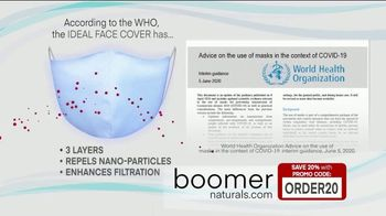 Boomer Naturals Multi-Use Protective Face Masks TV Spot, 'Ideal Face Cover: Makes a Difference' - Thumbnail 5