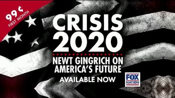 FOX Nation TV Spot, 'Crisis 2020: Newt Gingrich on America's Future'