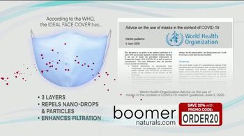 Boomer Naturals Multi-Use Protective Face Masks TV Spot, 'Ideal Face Cover' - Thumbnail 4
