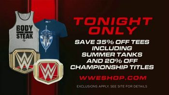 WWE Shop TV Spot, 'Energize: 35 Percent Off Tees, Summer Tanks & 20 Percent Off Titles' Song by Easy McCoy - Thumbnail 7