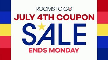 Rooms to Go July 4th Coupon Sale TV Spot, 'Bonus Coupons' - Thumbnail 2