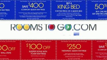 Rooms to Go July 4th Coupon Sale TV Spot, 'Bonus Coupons' - Thumbnail 4