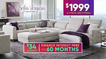 Rooms to Go July 4th Hot Buys TV Spot, 'Sofia Vergara Collection: Modern Four-Piece Sectional' - Thumbnail 5