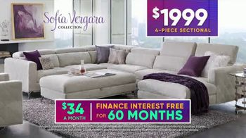 Rooms to Go July 4th Hot Buys TV Spot, 'Sofia Vergara Collection: Modern Four-Piece Sectional' - Thumbnail 6