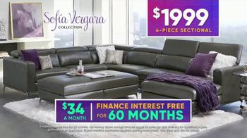 Rooms to Go July 4th Hot Buys TV Spot, 'Sofia Vergara Collection: Modern Four-Piece Sectional' - Thumbnail 7