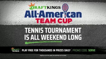 DraftKings All-American Team Cup Tennis Tournament TV Spot, 'Get in on the Action'