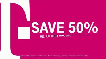 T-Mobile TV Spot, '55+ Customers Save 50%: Two Lines for Less Than $30' - Thumbnail 4
