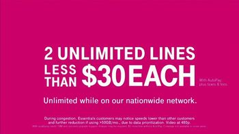 T-Mobile TV Spot, '55+ Customers Save 50%: Two Lines for Less Than $30' - Thumbnail 5