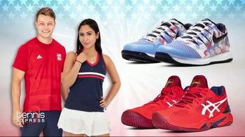 Tennis Express 4th of July Sale TV Spot, 'Extra Savings: Shoes, Apparel, Rackets & Tees'